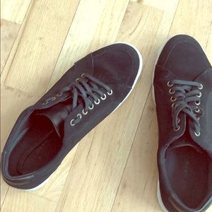 Cole Haan Black Suede and Leather Sneaker